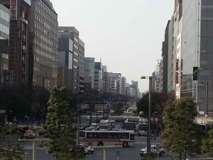 JR博多シティから撮影した大博通り
